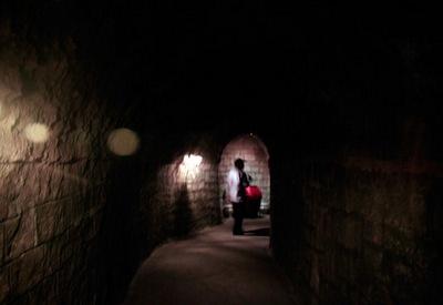 Lối kiến trúc hình vòm của Hầm Rượu